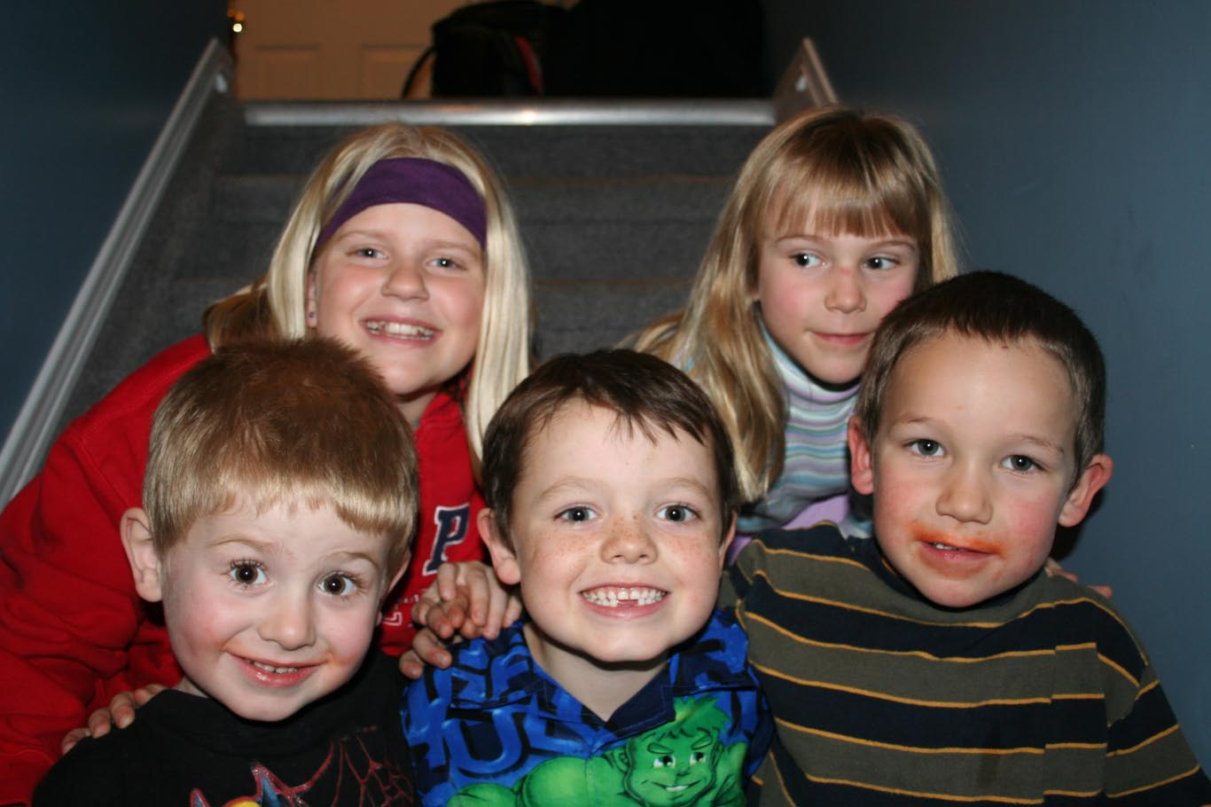 Some of the kids from the party
